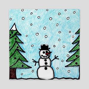 Snowman Greetings Queen Duvet