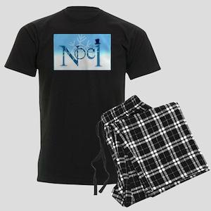Hats Off Noel Snow Men's Dark Pajamas
