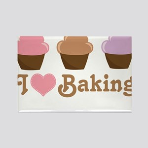 I Love Baking Cupcakes Magnets