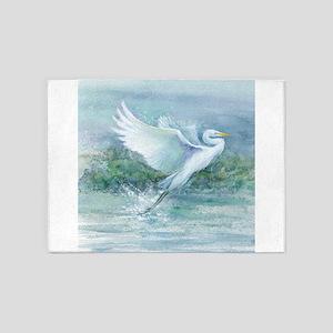 flighted Egret 5'x7'Area Rug