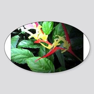 heliconia Oval Sticker