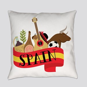 Spain 1 Everyday Pillow