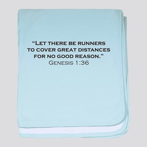 Runner / Genesis baby blanket