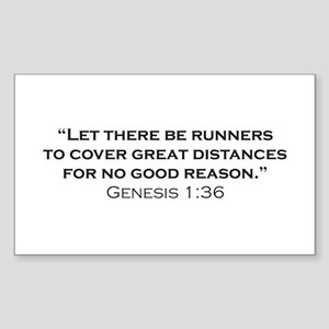 Runner / Genesis Sticker (Rectangle)