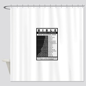 Bible emergency numbers Shower Curtain