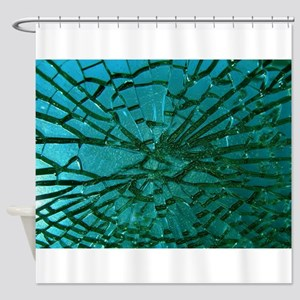 Shattered Glass Shower Curtain