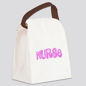 Nurse Pink Flower Design Canvas Lunch Bag