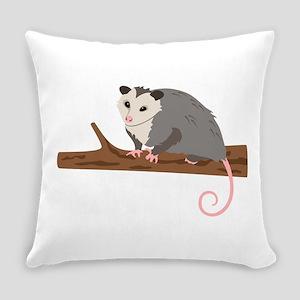 Opossum on Branch Everyday Pillow