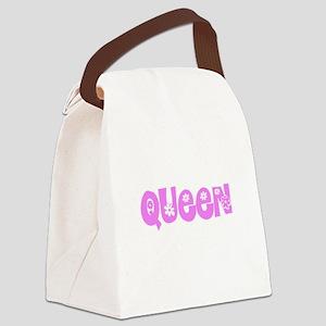 Queen Pink Flower Design Canvas Lunch Bag
