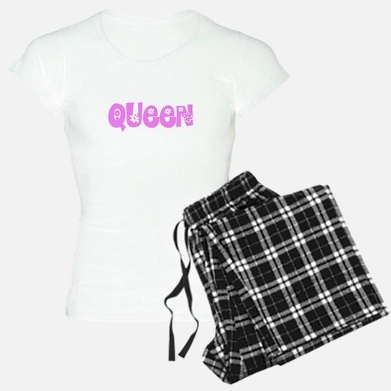 Queen Pink Flower Design Pajamas