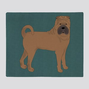Shar Pei Throw Blanket