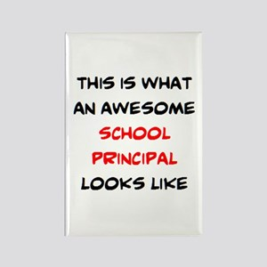 awesome school principal Rectangle Magnet
