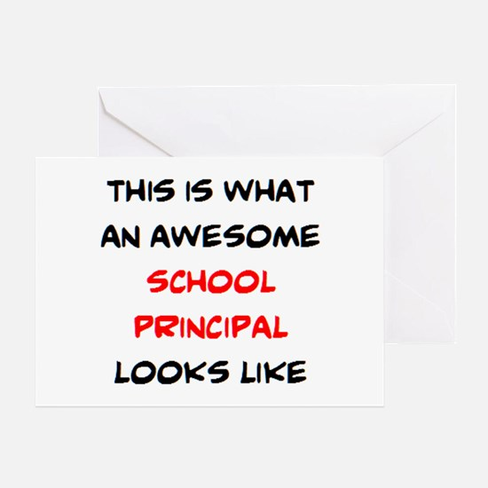 awesome school principal Greeting Card