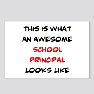 awesome school principal Postcards (Package of 8)