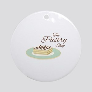 Pastry Shop Round Ornament