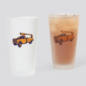 Cherry Picker Mobile Lift Truck Woodcut Drinking G