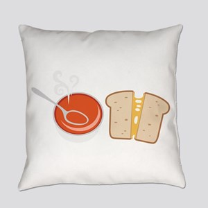 Soup & Sandwich Everyday Pillow