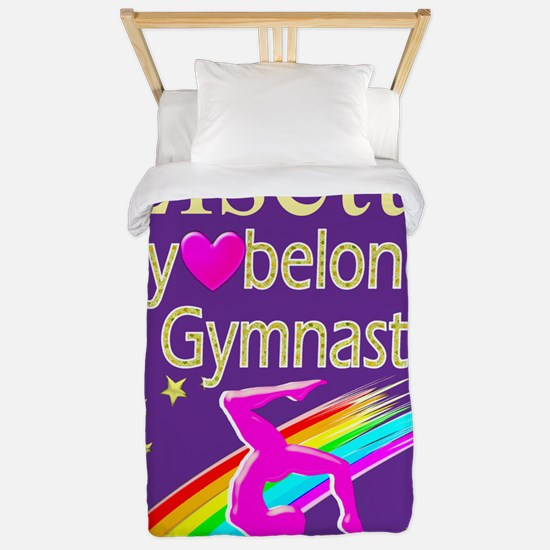 Girl Gymnast Twin Duvet Cover