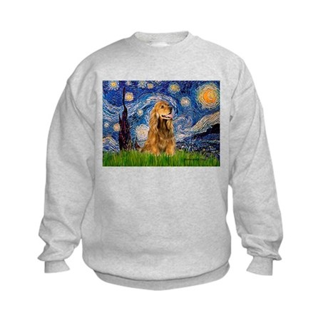 Starry Night/Cocker(#7) Kids Sweatshirt
