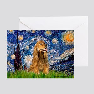 Starry Night/Cocker(#7) Greeting Cards (Pk of 20)