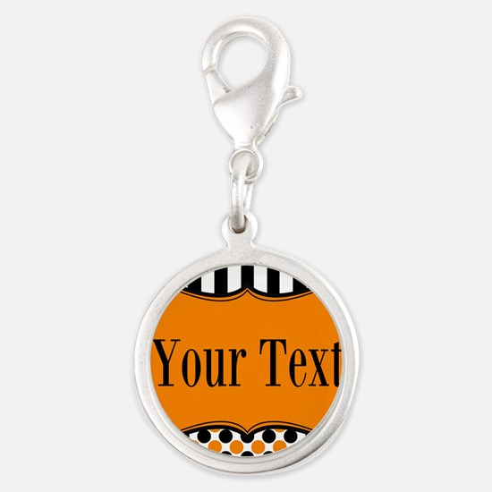 Personalizable Orange and Black Charms