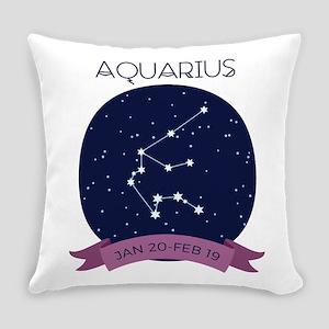 Aquarius Constellation Everyday Pillow
