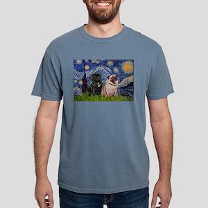 Starry Night & Pug Pair T-Shirt