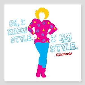 "I Am Style Beverly Goldberg Square Car Magnet 3"" x"