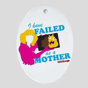 Failed Cake The Goldbergs Oval Ornament