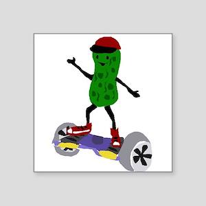 Pickle on Motorized Skateboard Sticker