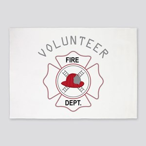 Fire Dept Volunteer 5'x7'Area Rug