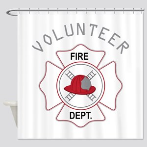 Fire Dept Volunteer Shower Curtain
