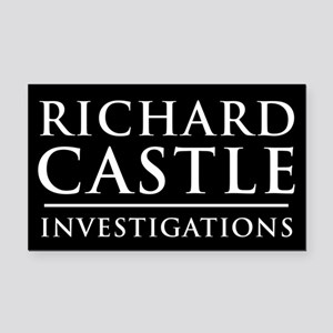 Richard Castle Investigations PI Rectangle Car Mag