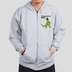T-rex Pregnant Humor Zip Hoodie