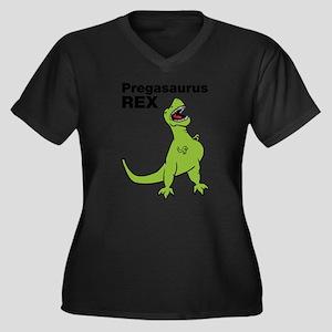 T-rex Pregnant Humor Plus Size T-Shirt
