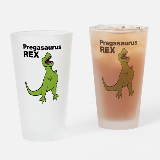 T-rex Pregnant Humor Drinking Glass