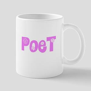 Poet Pink Flower Design Mugs