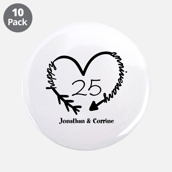 """Custom Anniversary Doodle He 3.5"""" Button (10 pack)"""