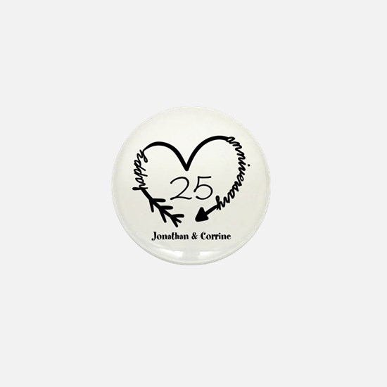 Custom Anniversary Doodle He Mini Button (10 pack)