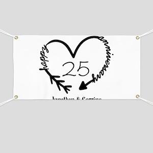 Custom Anniversary Doodle Heart Banner