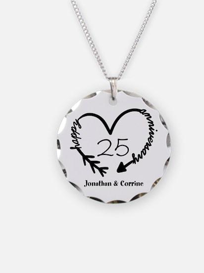 Custom Anniversary Doodle He Necklace