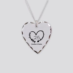 Custom Anniversary Doodle Hea Necklace Heart Charm