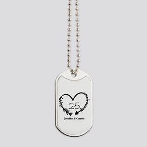 Custom Anniversary Doodle Heart Dog Tags