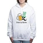 Personalize St Patricks Day Women's Hooded Sweatsh