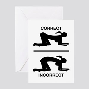 Correct Your Position Adult Humor Greeting Cards
