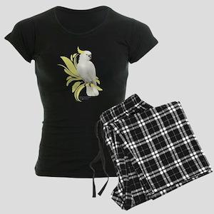 Sulphur Crested Cockatoo Women's Dark Pajamas
