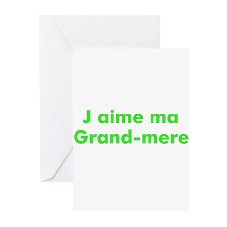 J aime ma Grand-mere Greeting Cards (Pk of 10)
