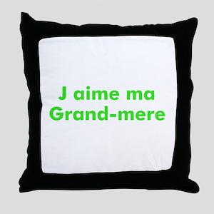J aime ma Grand-mere Throw Pillow