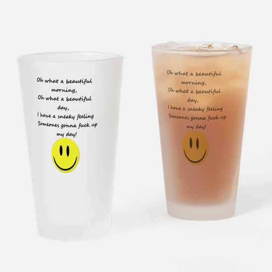 Cute Funny poems Drinking Glass