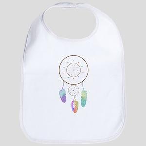 Watercolor Boho Rainbow Dreamcatcher Art Bib